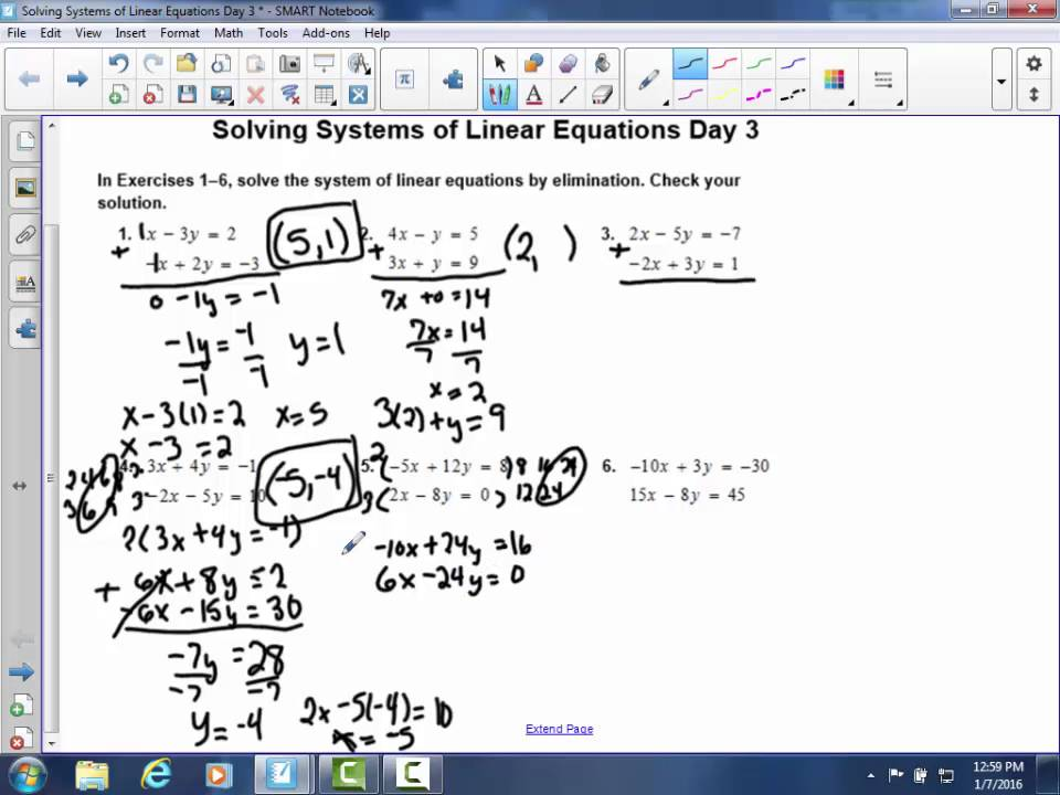 Solving Systems of Linear Equations Day 3 worksheet YouTube – Solving Systems of Linear Equations by Graphing Worksheet