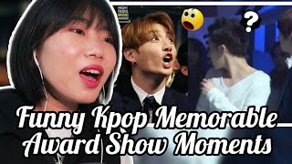 Funny Kpop memorable Award Show Moments (BTS,EXO,TWICE...) Kpop [NL] REACTION