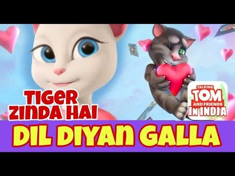 Dil Diyan Gallan in Talking Tom Version Tiger Zinda Hai full lyrics video