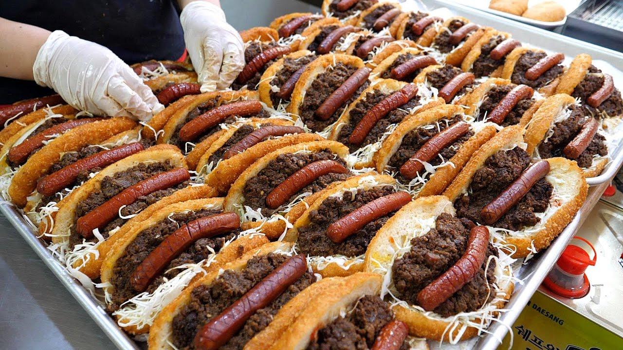 봉사 정신으로 판매하는? 2500원 ☁ 퀄리티 고로케! 불고기 핫도그 고로케  / Amazing fried hot dog Master / korena street food