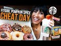 FITGIRL FALL-THEMED CHEAT DAY | Pumpkin Spice, Donuts, Pizza, Cookies (Fall Food Reviews)