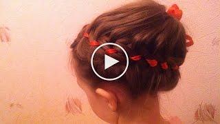 #прическа - корзинка на длинные и средние волосы