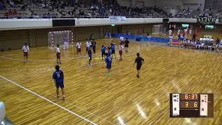 7日 ハンドボール男子 あづま総合体育館 Bコート 氷見×明星 3回戦 1