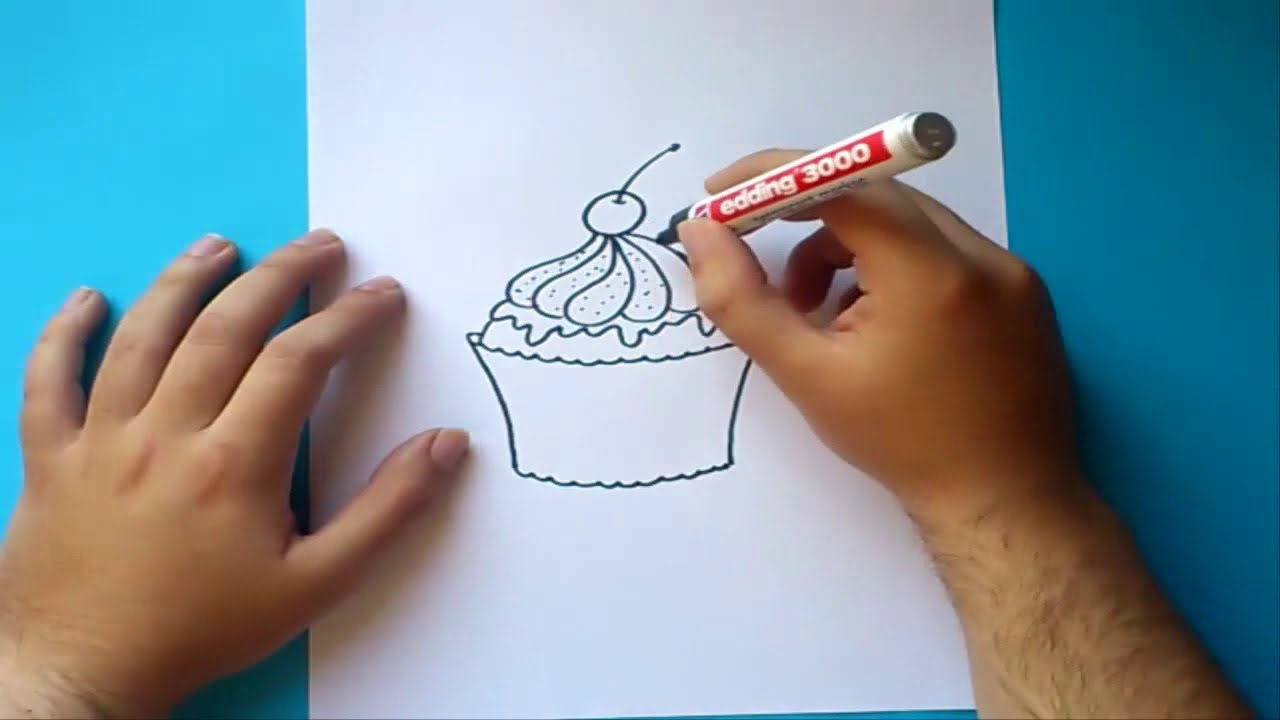 How to draw a photo on a cake