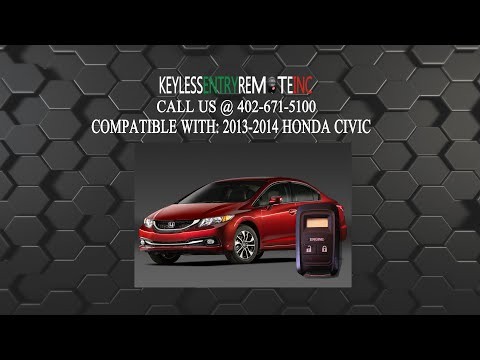 How To Replace Honda Civic Key Fob Battery 2013 2014