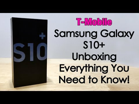 Samsung Galaxy S10+ For T Mobile - Unboxing & In Depth First Look
