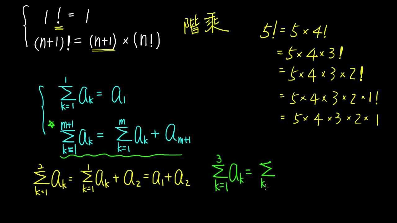 高一下數學1-2B觀念05以遞迴關係表示「Σ」 - YouTube