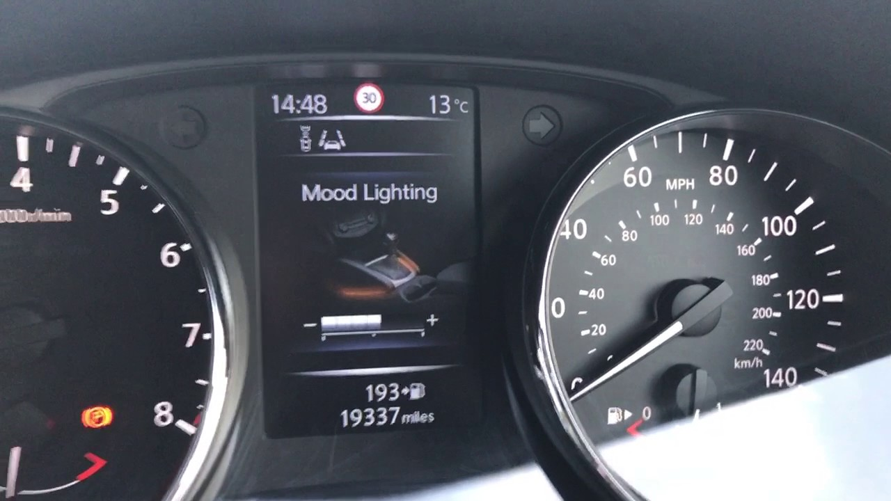Nissan Qashqai Vehicle Settings Youtube