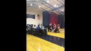 Jen telling STU students about SMA
