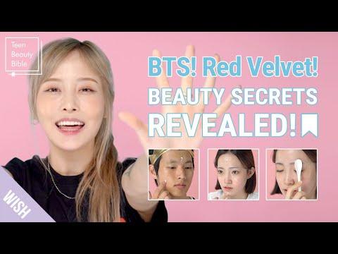 K Pop Idol Beauty Secrets Revealed! BTS & Red Velvet's Tips For Glowing Skin!   Teen Beauty Bible