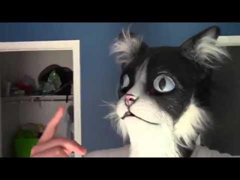 Напугать кота маской