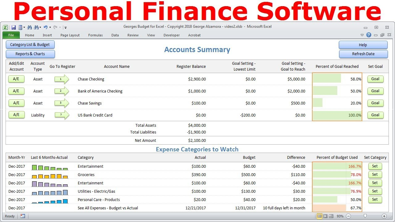 top budget software personal finance software simple. Black Bedroom Furniture Sets. Home Design Ideas