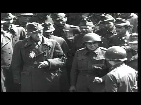 Hungarian Lieutenant General Vitéz Kassai Farkas László talks to a US Army office...HD Stock Footage