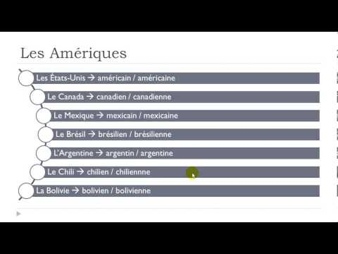Learn French # Countries And Nationalities
