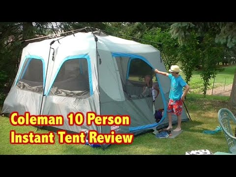 & Coleman 10 Person Instant Tent Review - YouTube