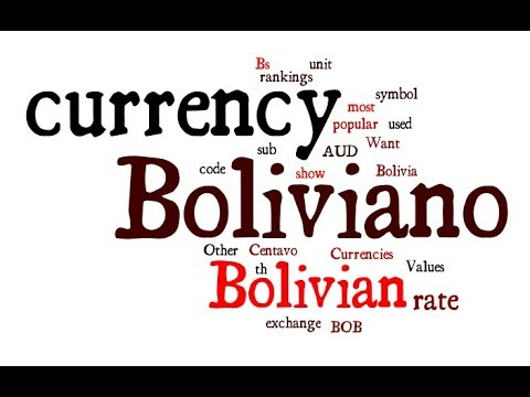 Bolivian Currency - Boliviano
