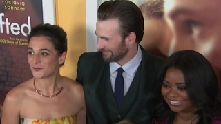 Chris Evans attends premiere with ex, Jenny Slate