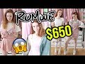 I SPENT $650 ON ROMWE OUTFITS! HUGE HAUL AND TRY ON 2018