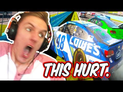 I REALLY HURT MYSELF IN THIS VIDEO... // NASCAR Heat 2 Online Cup Racing