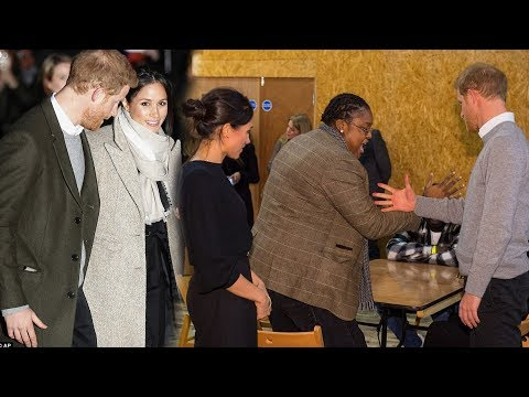 Harry jokes Meghan wears trousers in their relationship as they met with young DJs