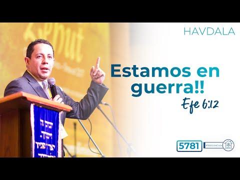 Havdala 7o día de Pesaj 5781- Estamos en Guerra! Efe. 6:12