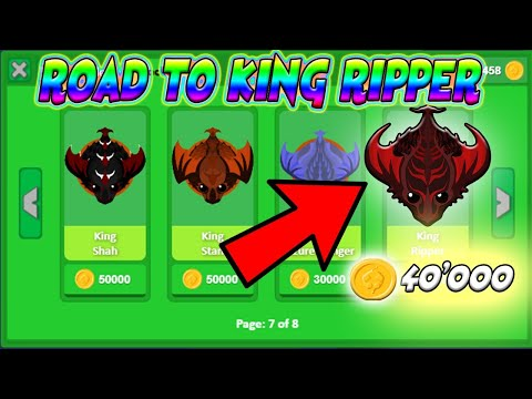 🔴Mope.io - LET'S TRYHARD COINS TO BUY THE KING RIPPER (KING DRAGON SKIN) IN THE SHOP