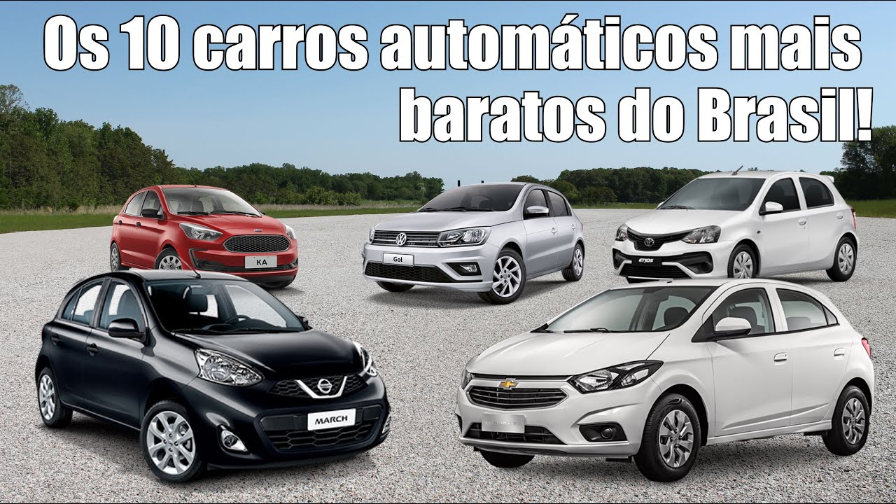 Os 10 carros automáticos mais baratos do Brasil - YouTube 2655e84739