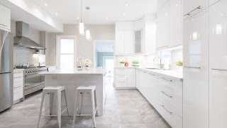 A dark, cramped kitchen gets a bright and white remodel