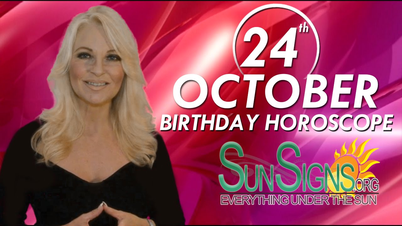 horoscope of person born on 24 october