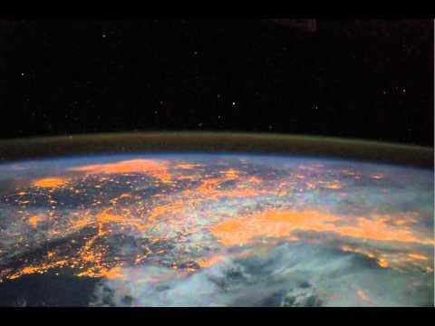 NASA. Western Africa to Croatia at Night.