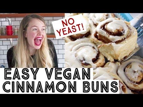 Easy Vegan Cinnamon Buns – No Yeast!!!