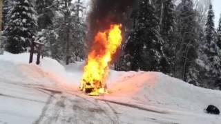 Ski-Doo on Fire!!!!