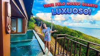 TOUR PELO NOSSO QUARTO NA PRAIA!!