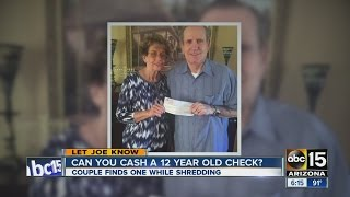 Let Joe Know: Can you cash an old check?