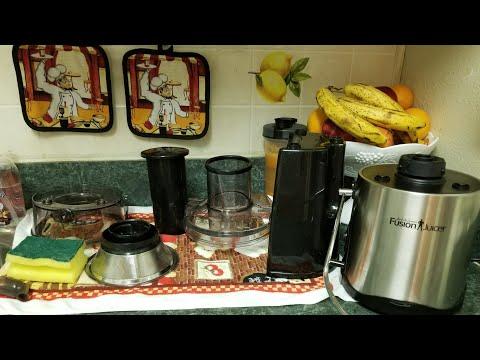 Como limpiar un extractor de jugos  Jack lalanne How to clean the juice extractor Jack lalanne