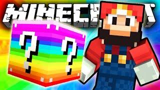 Minecraft: RAINBOW Lucky Block MARIO CHALLENGE!