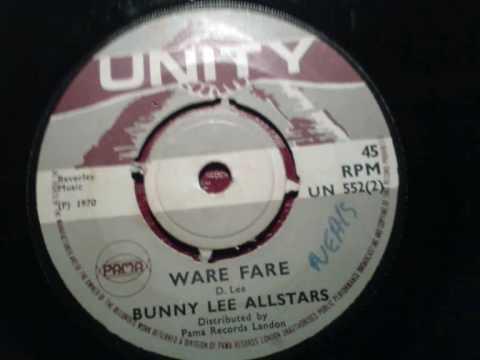 WARE FARE (warfare)bunny lee allstars (unity pama) boss reggae