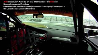 APR Motorsport 2010 Audi B8 S4 3.0 TFSI Hot Lap at Daytona
