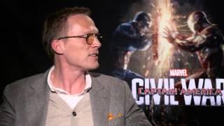 Paul Bettany and Chadwick Boseman on Marvel's Captain America: Civil War