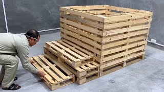 Useful Recycling Projects From Old Pallets - Make A Simple Swimming Pool Out Of Pallets