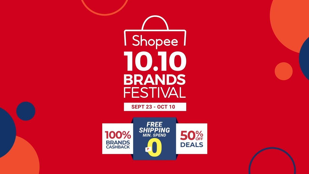 Shopee 10 10 Brands Festival Youtube