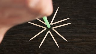 THE AWESOME TRICK WITH TOOTHPICKS