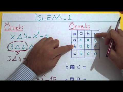 İşlem 1 Şenol Hoca Matematik