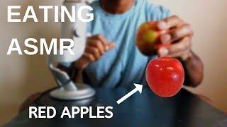 ASMR EATING RED APPLES NO TALKING (crunchy eating sounds) | ASMR TY