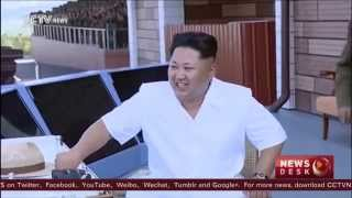 #NorthKorea: DPRK leader Kim Jong Un inspects air force contest