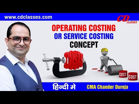 CS executive cost and management accounting- OPERATING COSTING /Service Costing CLASS 1