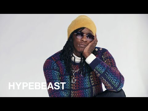 """Young Thug Says He Is """"Fashion"""" & Plans to Go Deaf for 2018"""