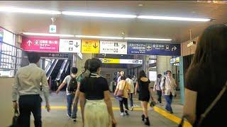 《乗り換え》日暮里駅、JR山手線から日暮里・舎人ライナーへ。  Nippori