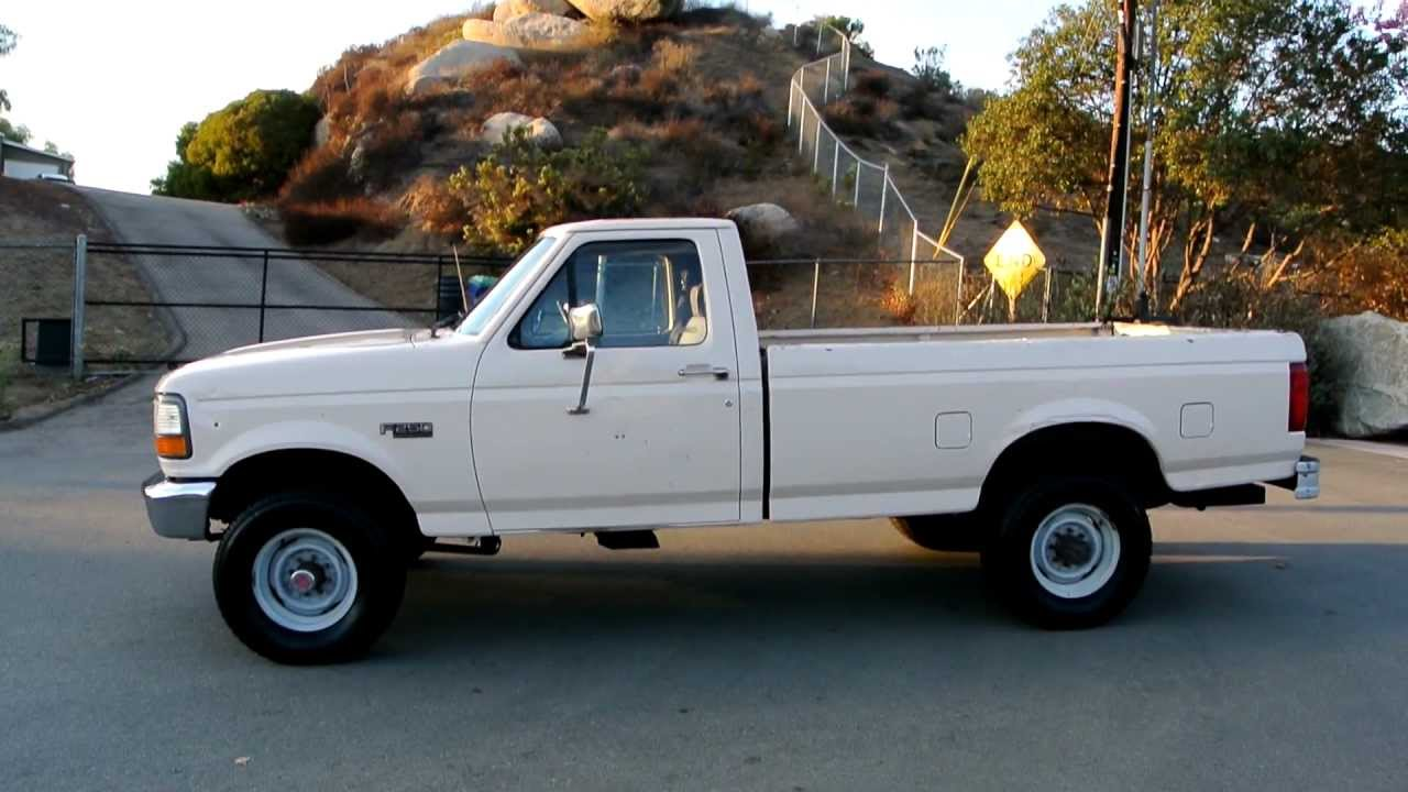 1992 ford f250 f 250 4x4 work truck for sale before ebay video review 2175 youtube