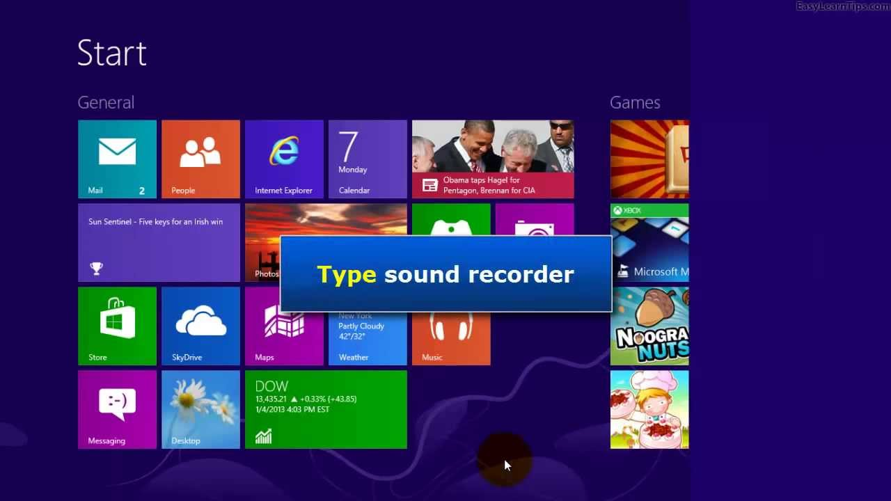 Record Your Screen on Windows 8
